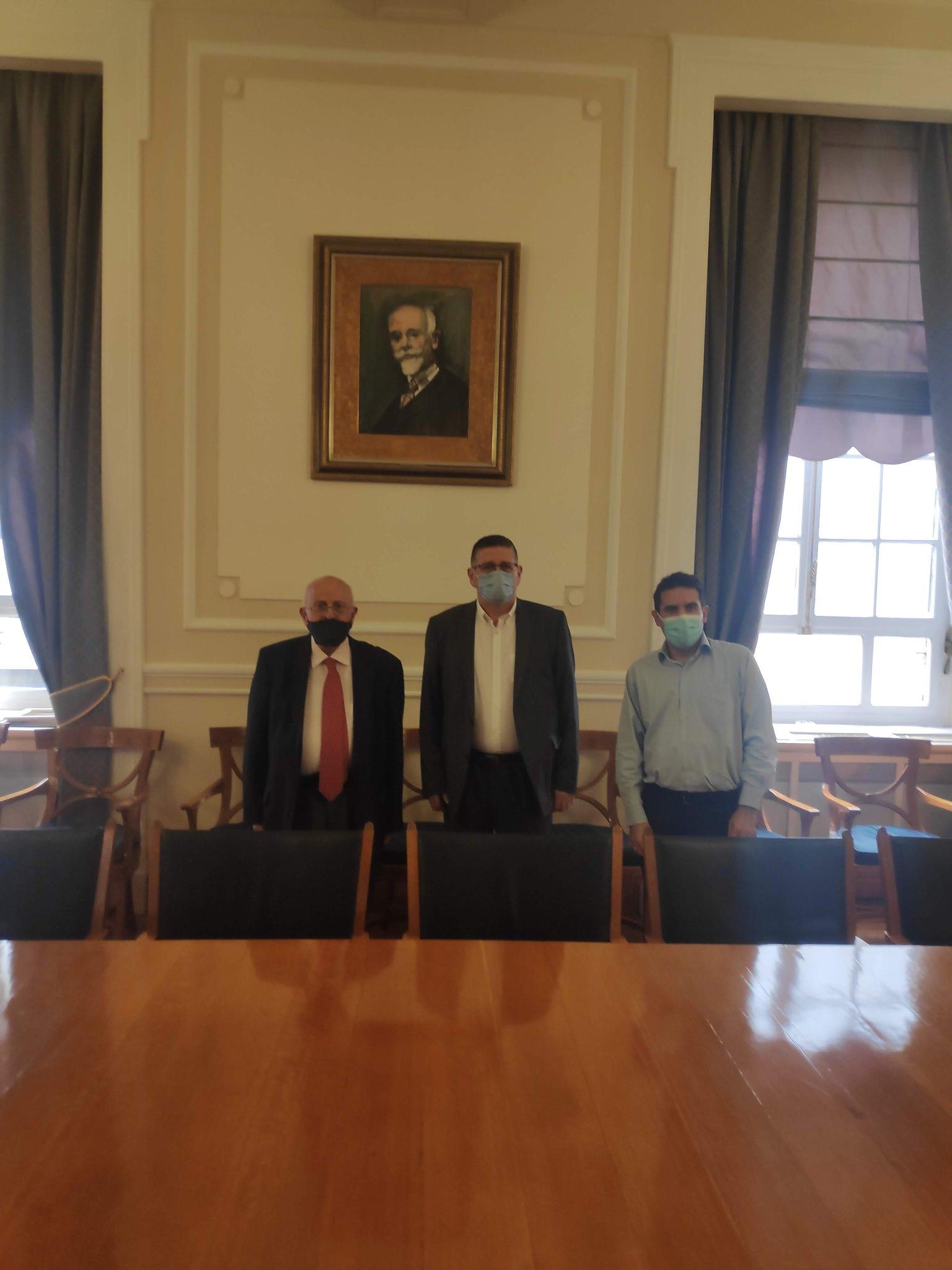 Συνάντηση με το νέο Πρύτανη του Οικονομικού Πανεπιστημίου Αθηνών